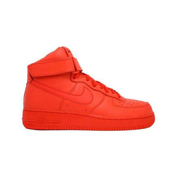 Discount Nike Wmns Air Force 1 Mid Chile Red (321813 661) ❤ liked on Polyvore featuring shoes, sneakers, items, nike, nike shoes, red trainer, nike footwear and nike trainers