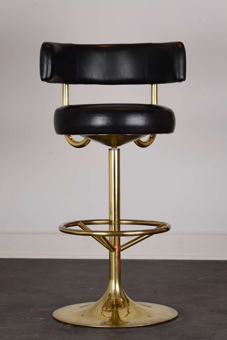 Brass Swivel Vintage Bar Stools That Would Compliment My Two