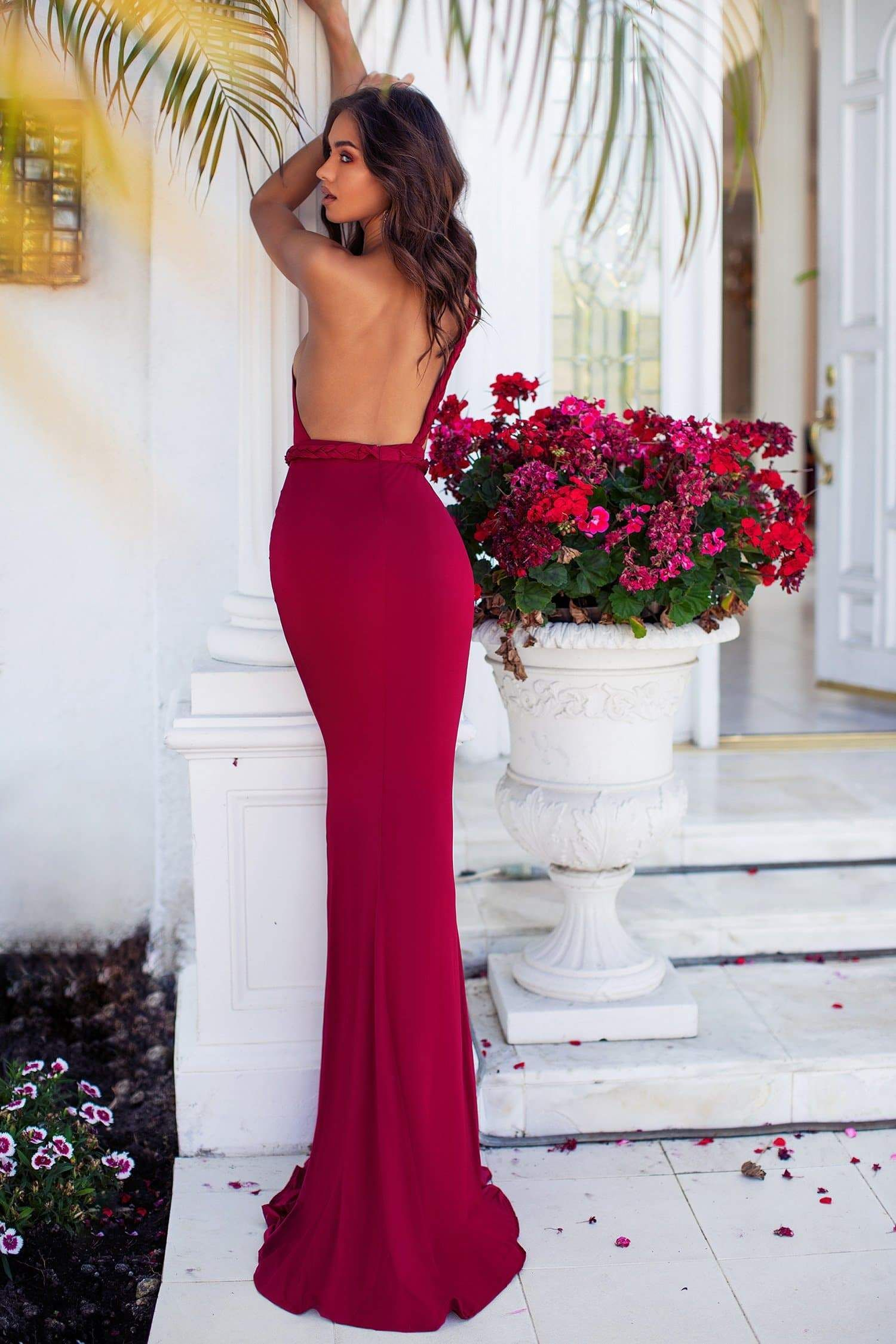 Graciela Wine Red Event Dresses Dresses Formal Dresses Prom [ 2249 x 1500 Pixel ]