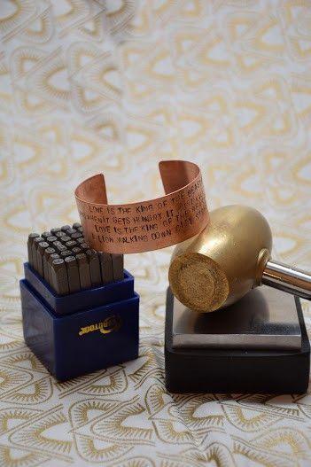 Stamped Copper Cuff Workshop: Thursday June 9, 6-7:30PM