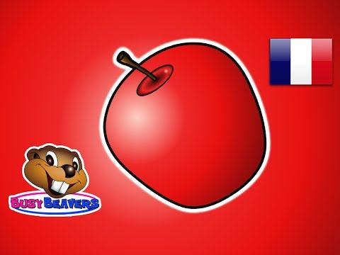 The Apple Is Red French Teach Colors Learn Colours Baby Toddler Preshcool Kids Songs Teaching Colors Learning Colors Color Songs