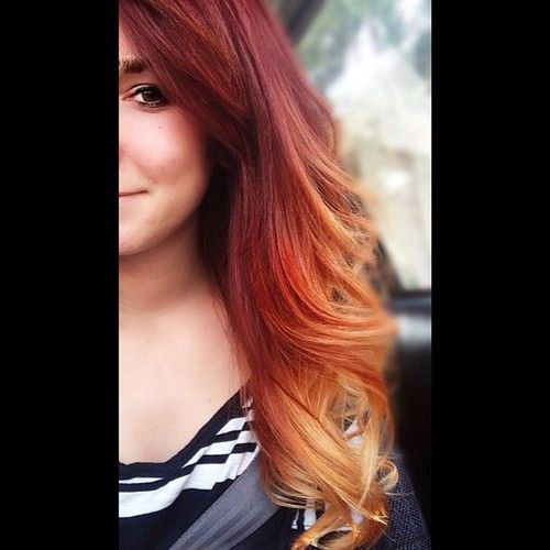 Red Ombre Hair Inspiration Color