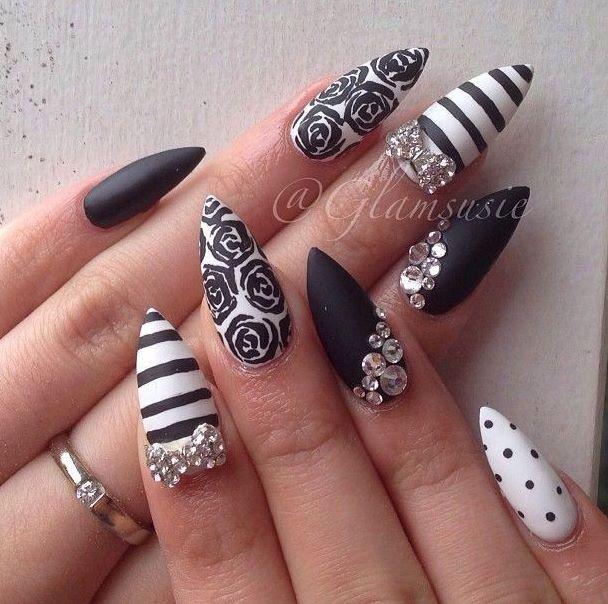 Black Is The New White Nail Designs Pinterest Black Makeup