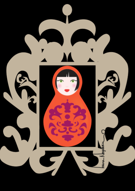 Oriental. From a series of posters - Matryoshka Moods