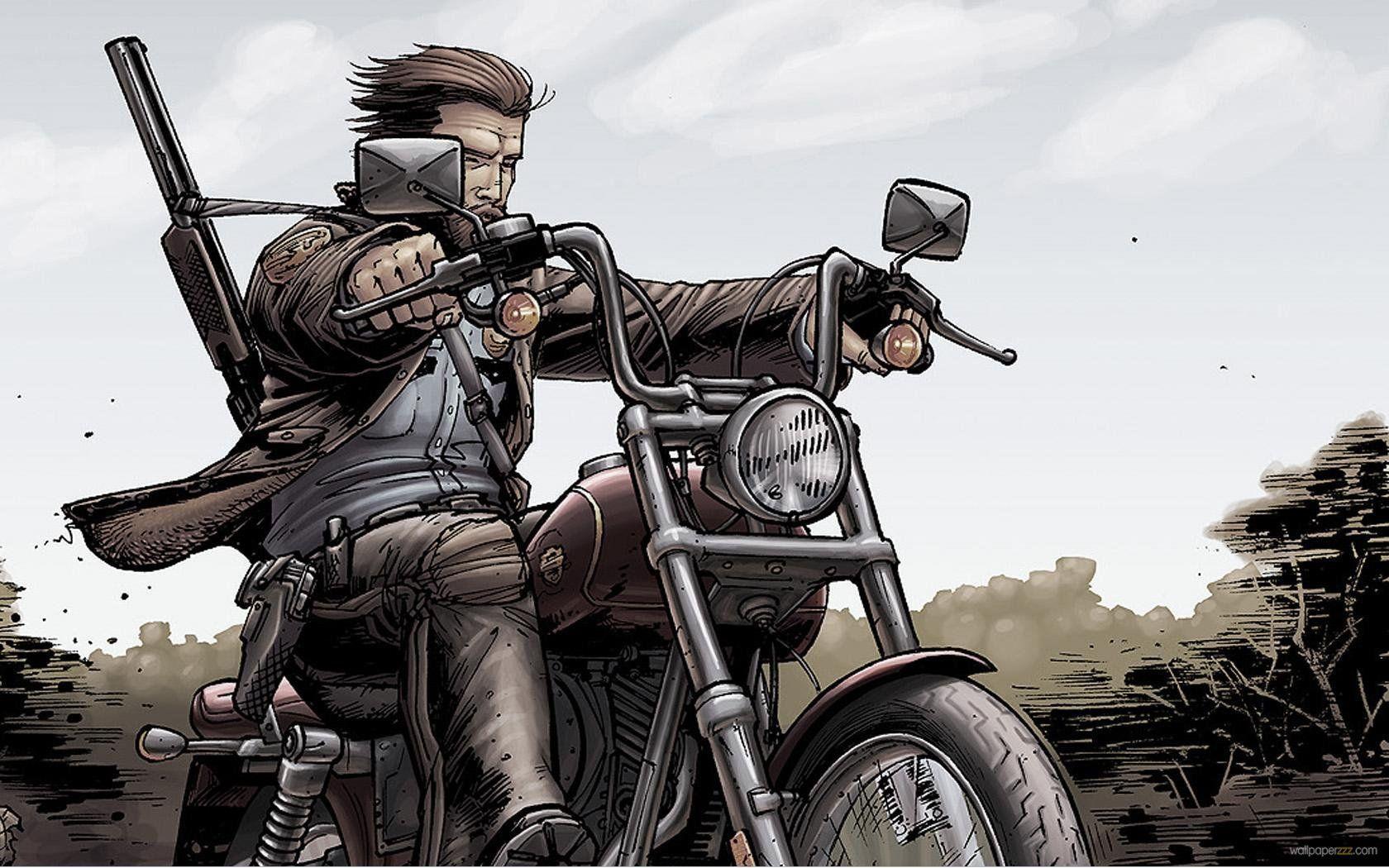 Anime Biker Guy