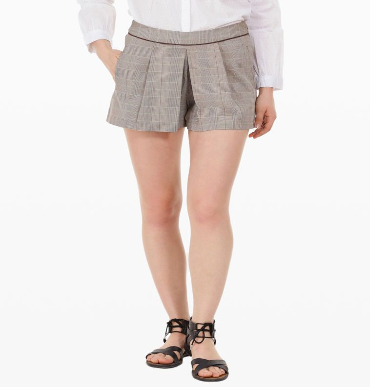 Nothing feels more casual than a good pair of shorts. These cotton dyed check shorts gives the right amount of comfort and style. Pair it with a top or shirt to get your desired look