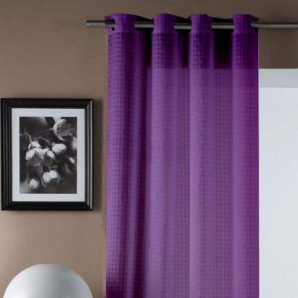 cortina lisa de color morada - Cortinas Moradas