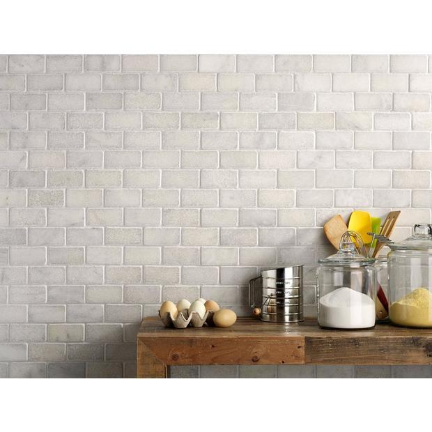 Tumbled Carrara Marble Tile