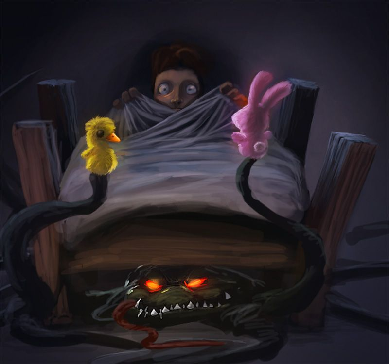 A Monster In The Bed | Monster under the bed, Cute monsters ...