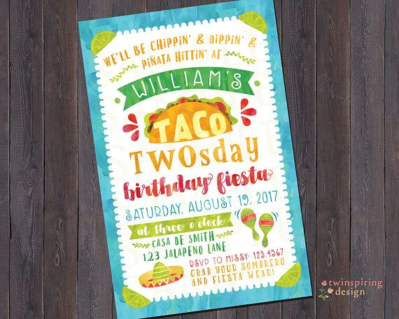 Celebrate your childs 2nd birthday with a taco twosday fiesta and make sure to order