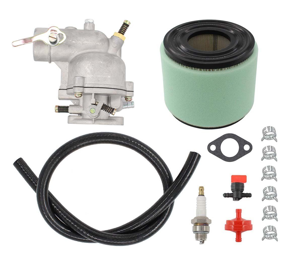 medium resolution of carburetor air filter fuel hose shut off valve for briggs and stratton 390323 394228 299169 7