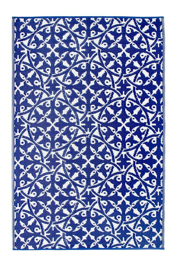 San Juan Recycled Plastic Outdoor Rug Blue And White Floorsome Tappeti Da Esterno Tappeti Pavimenti