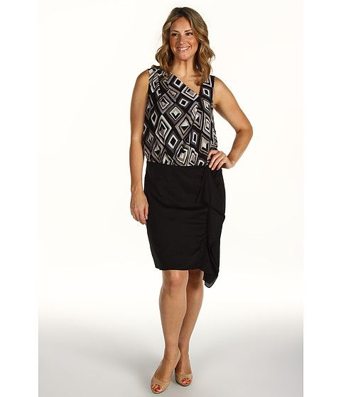 DKNYC Plus Size Sleeveless System Dress Black - 6pm.com