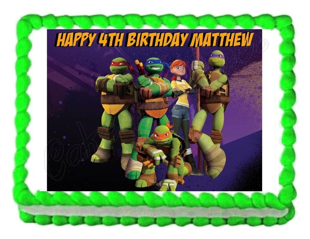 Tmnt Teenage Mutant Ninja Turtles Edible Cake Image Cake Topper Ninja Turtles Birthday Party Teenage Mutant Ninja Turtles Party Teenage Mutant Ninja Turtles Birthday Party