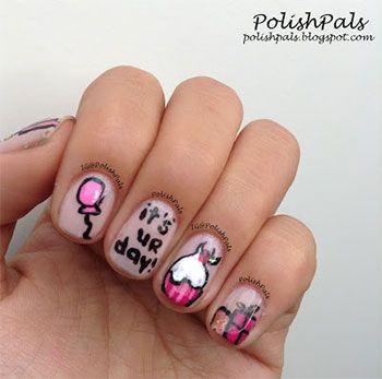 Birthday Themed Nail Arts Birthday nails Birthday nail art and