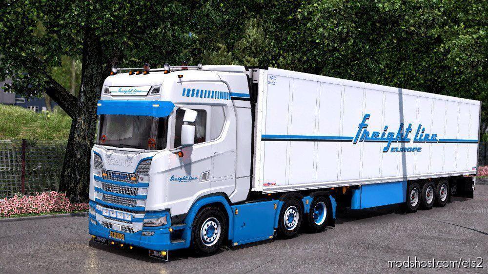 Freight Line Combo Skin Mod For Euro Truck Simulator 2 At Modshost Combo Skin Of Freight Line Company Work On All Version For Scania Combo Skin Combo Trucks