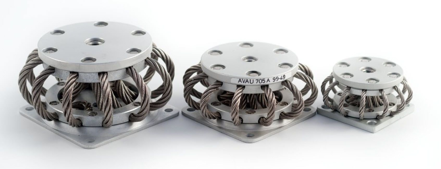 Wire rope isolator anti-vibration mount - 1 - 100 daN | AVAU series ...