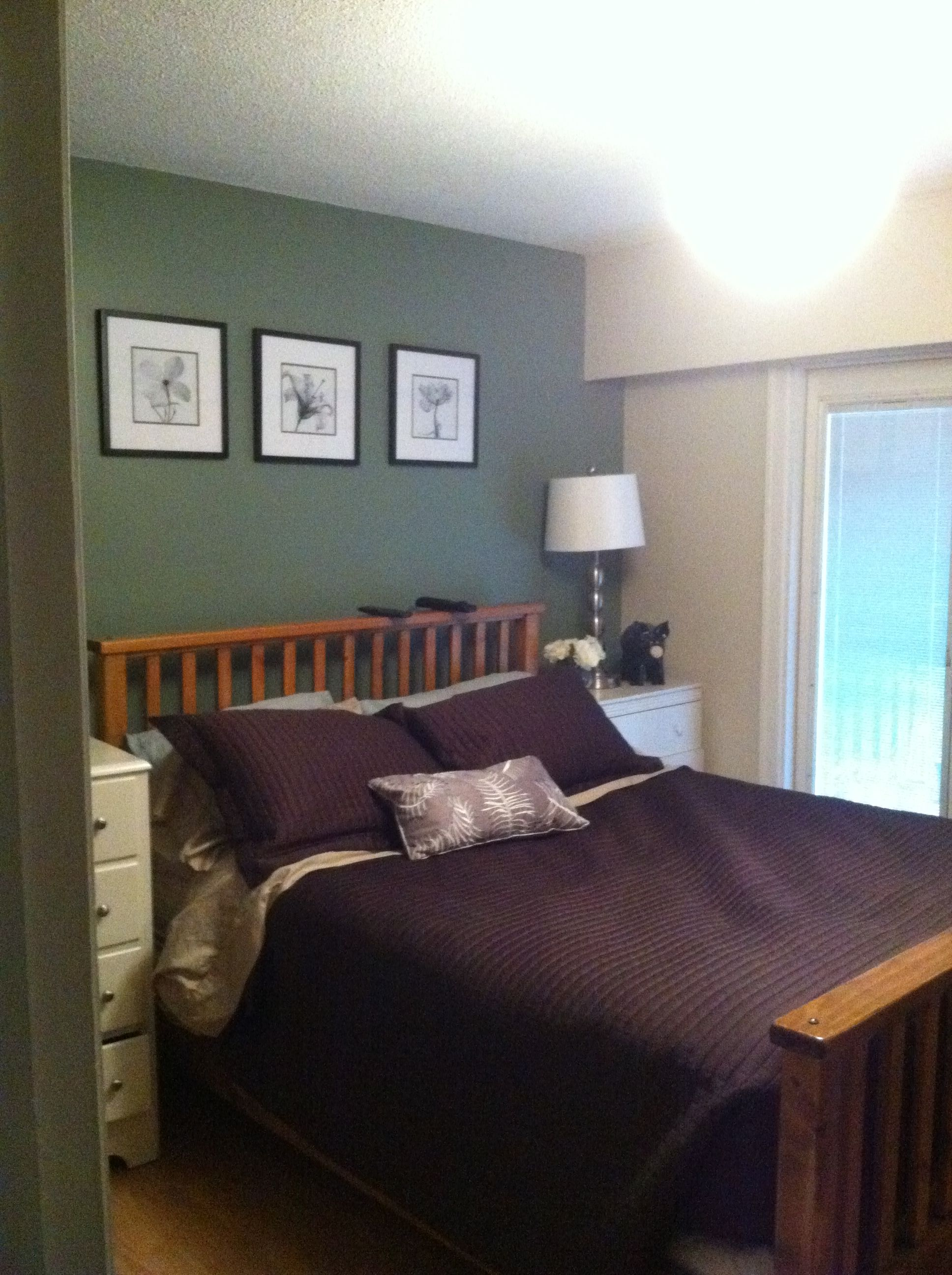 27902705df Carolina Gull by Benjamin Moore - feature wall in master bedroom ...