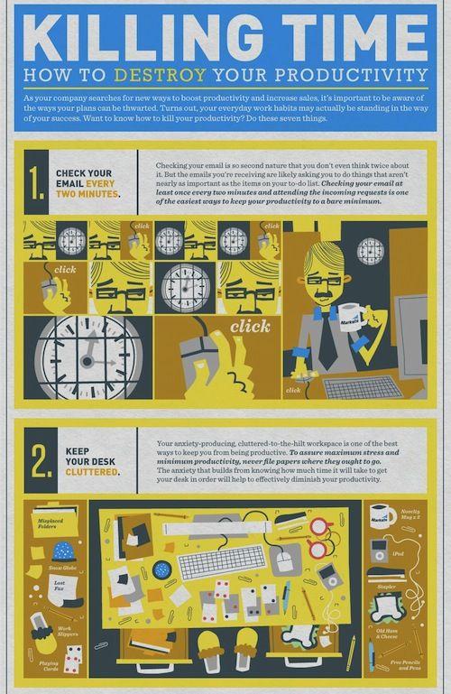Infographic: How To Destroy Your Productivity - DesignTAXI.com