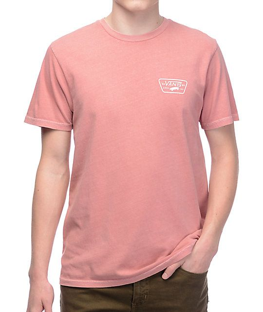 6315eceeea Vans Full Patch Rose   White Pigment T-Shirt