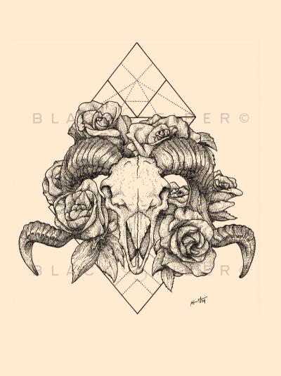 Ram Skull Tattoo Tumblr Tatoo Tatuagem Tatuagem De Caveira