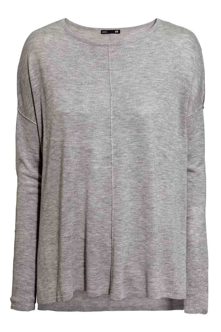 Lange Oversized Trui.Oversized Trui H M Mooi Oversized Jumper Grey Sweater En Sweaters