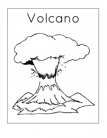 Volcano Coloring Pages Coloring Rocks Coloring Pages Dinosaur Coloring Pages Love Coloring Pages