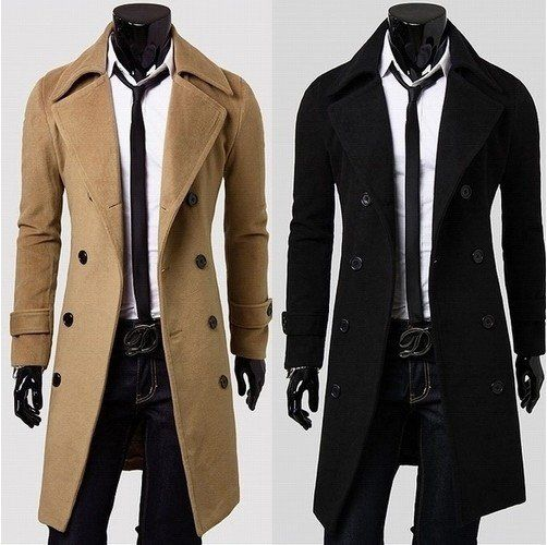 Spring New Fashion Trench Coat Men Spring Long Coat Suit Men Wool ...