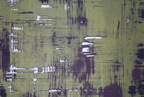 Medium Print Silk Screen Print Green And Purple Print Etsy Screen Printing Silk Screen Printing Silk Printing