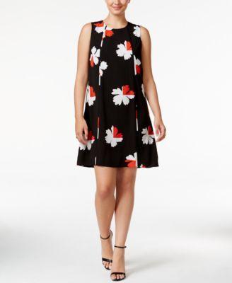 955067357b8 TOMMY HILFIGER Tommy Hilfiger Floral-Print Pleated Shift Dress.   tommyhilfiger  cloth   dresses