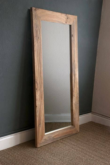 Mirror And Wooden Frame 50x36 Install Included Mirror Wall Wall Mirror Diy Wooden Mirror