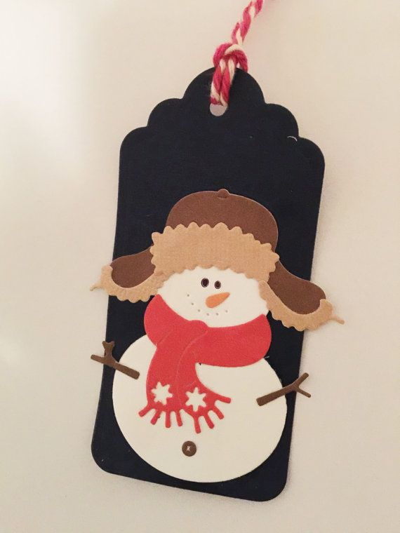 Christmas tag - Snow man