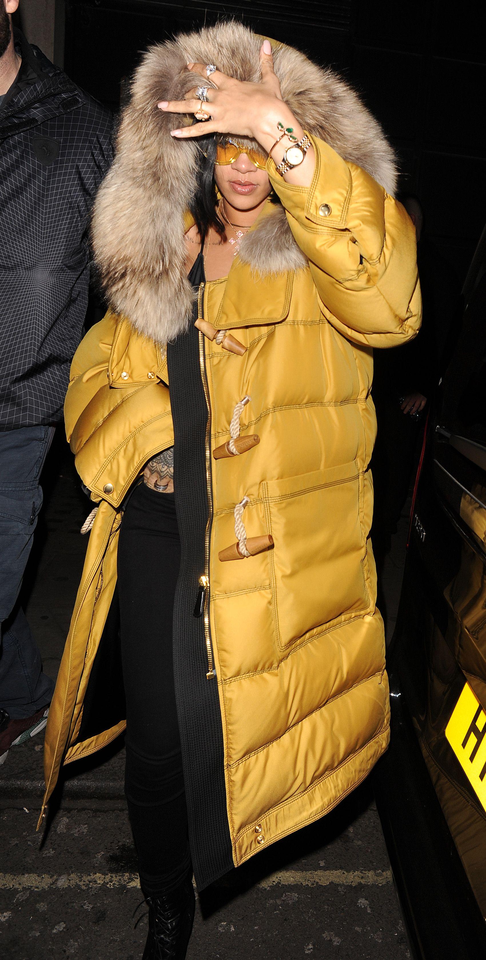 Rihanna Makes Puffer Coats OK