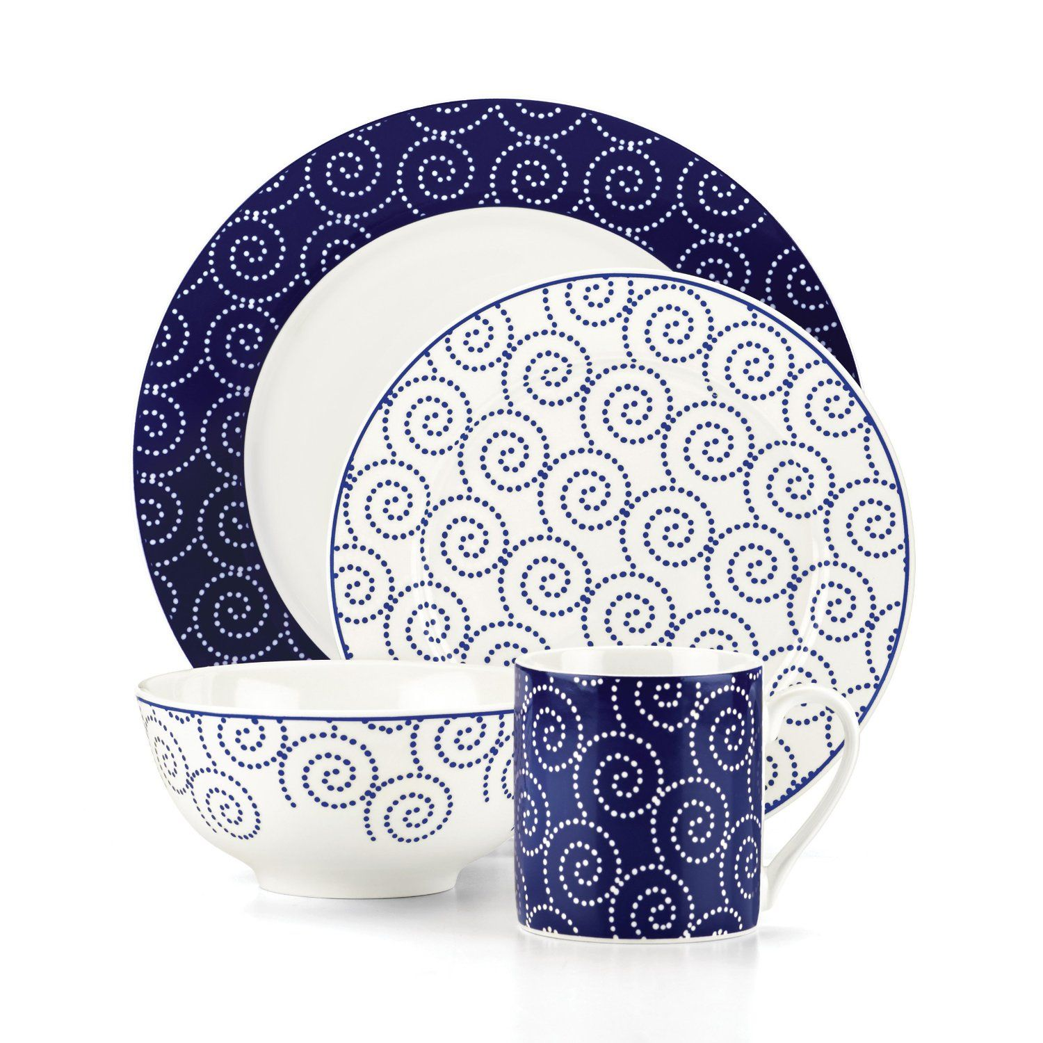 Emeril St Louis Blue 16 Piece Dinnerware Set - Overstock™ Shopping - Great Deals on Emeril Casual Dinnerware  sc 1 st  Pinterest : emeril dinnerware collection - pezcame.com