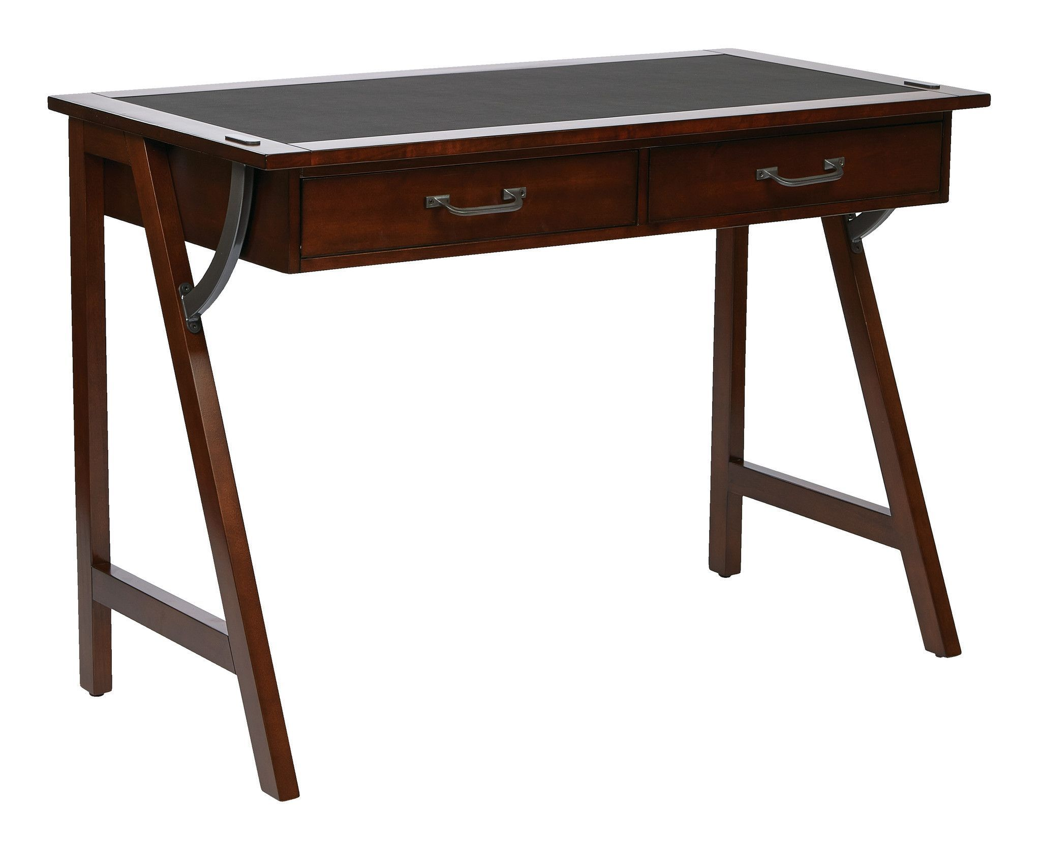 Osp Designs Dorset 44 Computer Desk In Cider Finish With Trestle