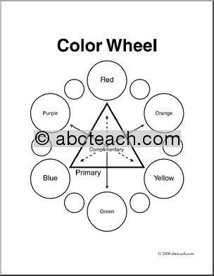 Clip Art Color Color Wheel Coloring Page Preview 1 Clip Art Color Wheel Coloring Pages
