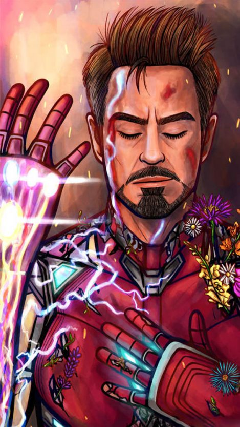 Tony Stark Sacrifice Snap iPhone Wallpaper from iphoneswallpapers.com