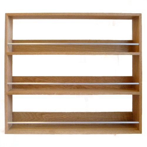 Woodworking Plans For Kitchen Spice Rack: Solid Oak Spice Rack Three Tier Up To 27 Jar Capacity