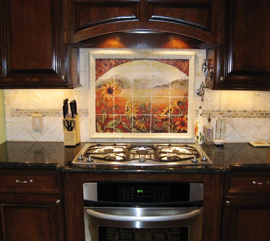 Sunflower Kitchen Backsplashes & Tile Murals