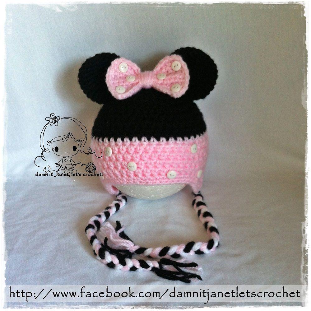 Unique Crochet Pattern For Minnie Mouse Hat Frieze - Blanket ...