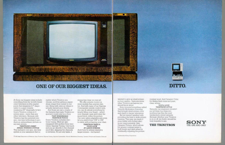 1981 Sony Trinitron Television TV CRT Tube Console Portable