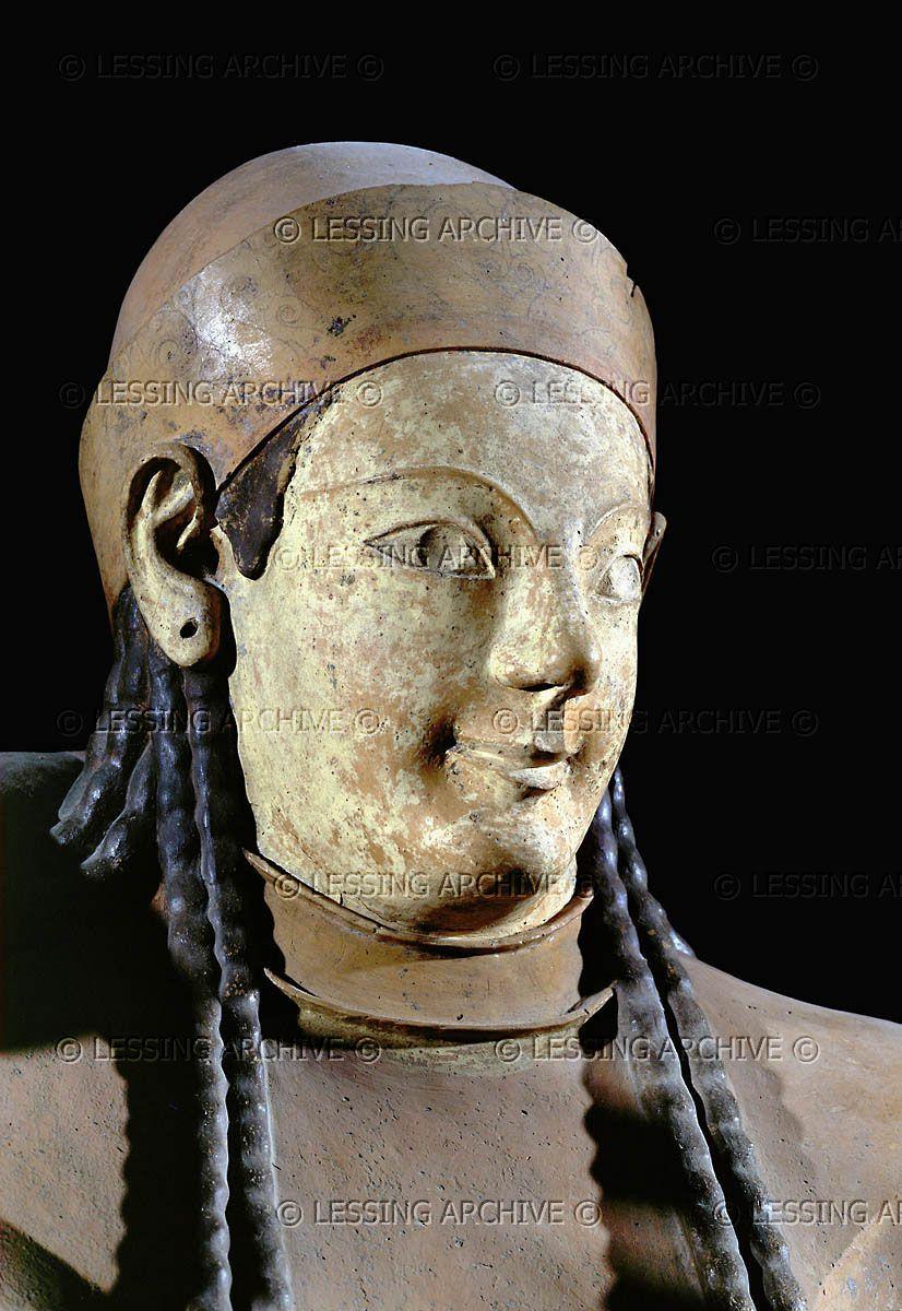 Etruscan Sarcophagus 6th Bce Of Couple Sarcophage Des Epoux Cerveteri