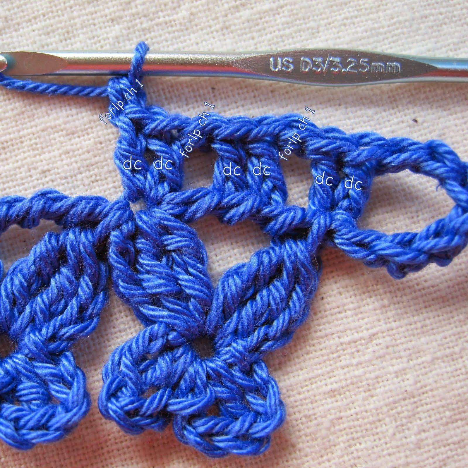 How to tie crochet motifs