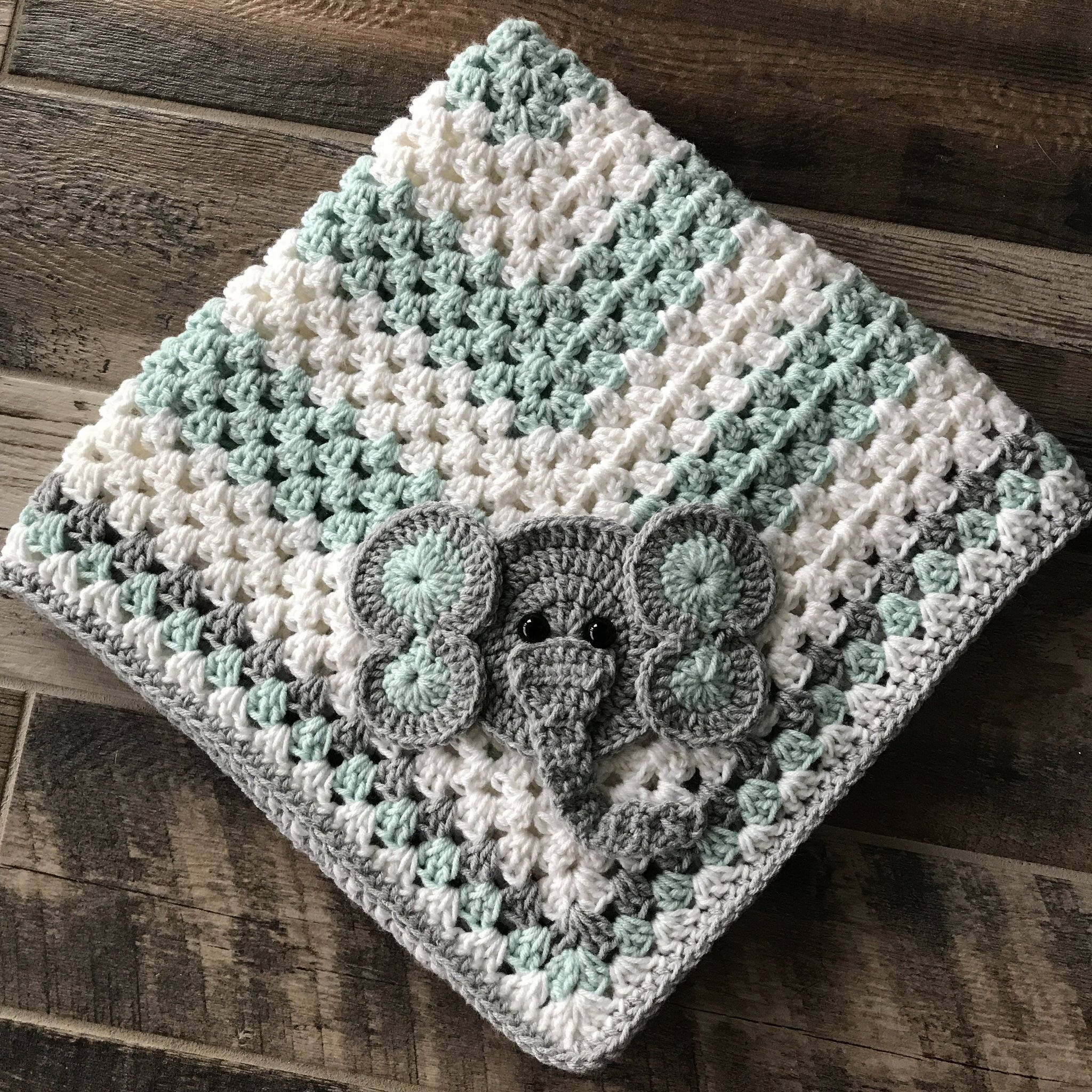 Elephant Baby Blanket Crochet Pattern Magnificent Decoration
