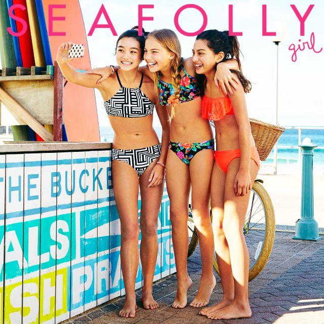 220e60d9a8 Seafolly Girls Summer 2014. Left to right: #Modpop, Bella Boho, Summer Camp  ranges. seafolly.com