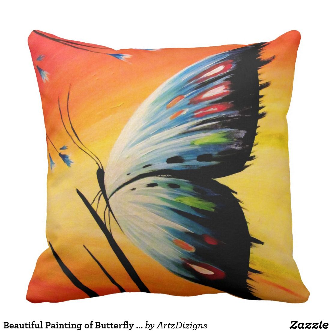 10 diy throw pillow ideas.htm beautiful painting of butterfly on throw pillow zazzle com in  painting of butterfly on throw pillow