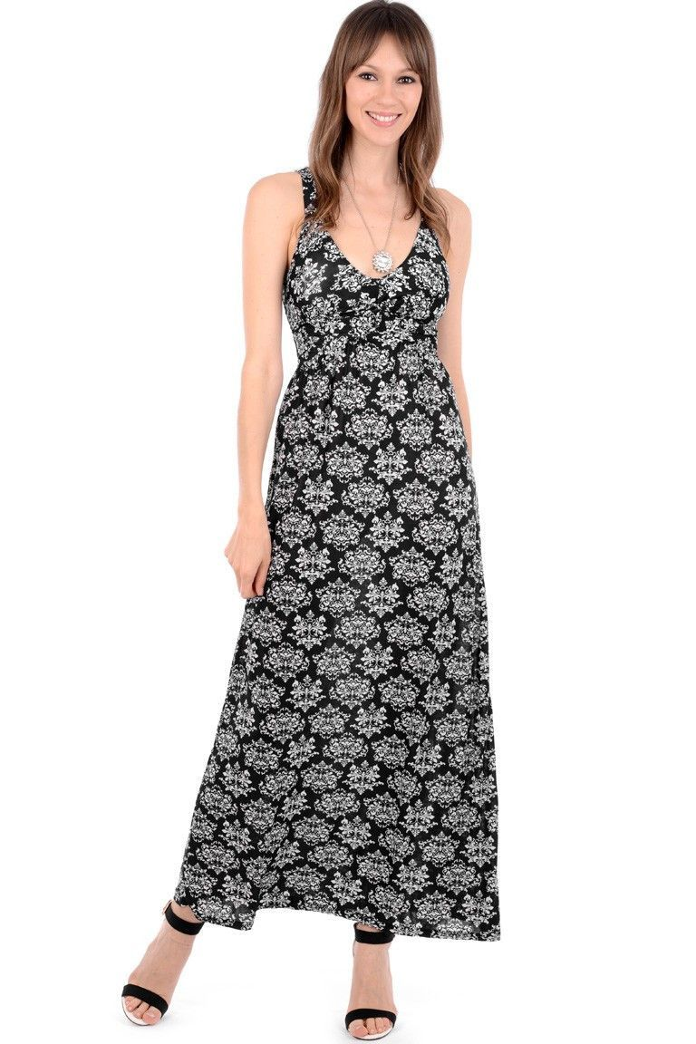 Silk look paisley print maxi dress products pinterest products