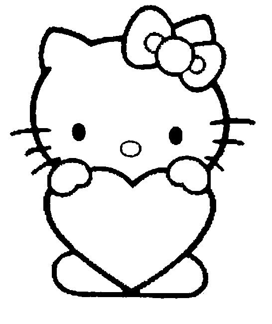 Dibujo Para Colorear San Valentin Cosas De Hello Kitty Gatito Dibujos De Hello Kitty