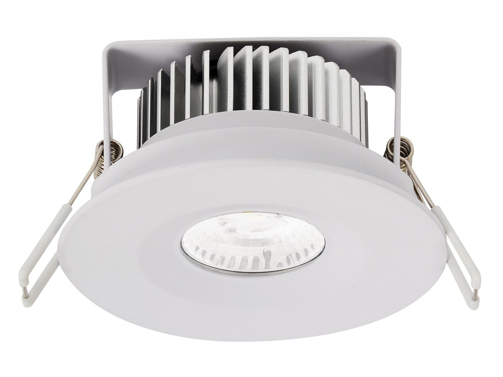 Ledlux City Ii Fixed Led White Dimmable Downlight In Warm White Downlights Ceiling Fan Installation Led