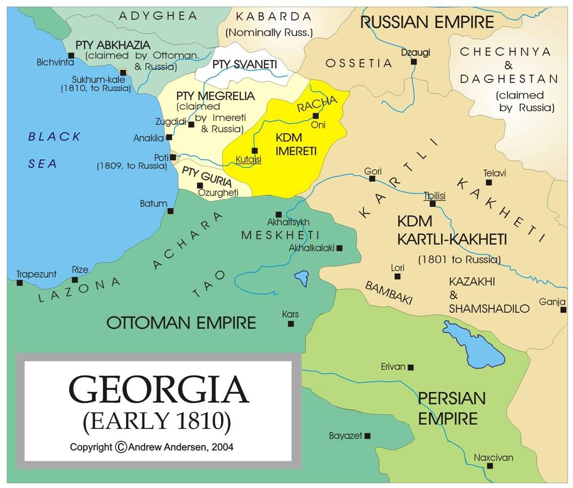 Georgia Eastern Europe Map.Map Of Georgia Early 1810 And Some Of The Disputed Areas In